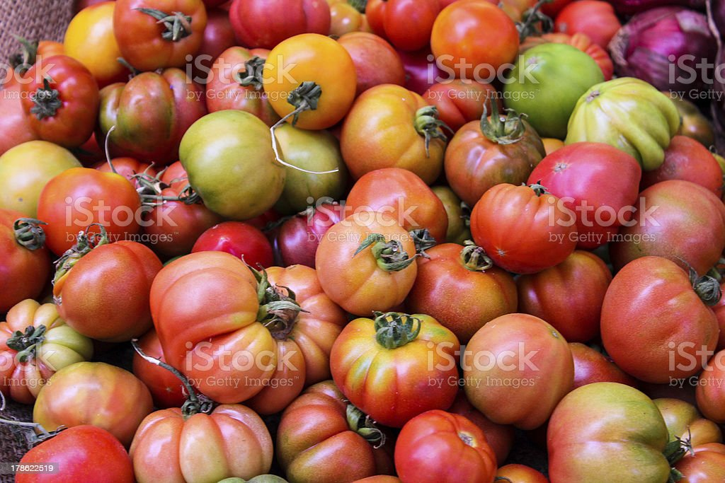 Fresh Multicolor Tomato royalty-free stock photo