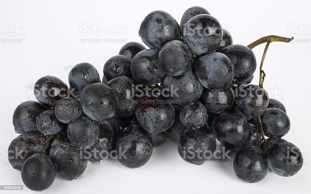 Fresh Muscat grapes isolated on a white background stock photo