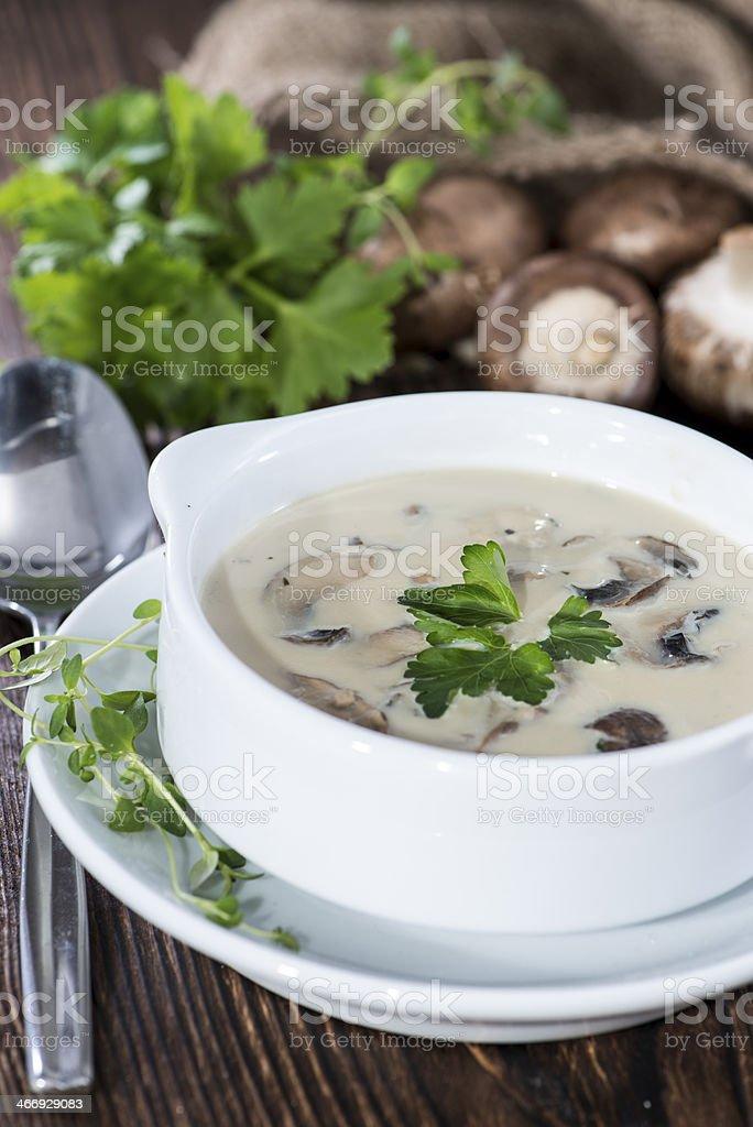 Fresh Mushroom Soup stock photo