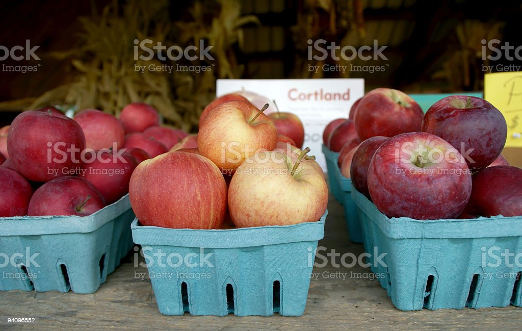 Fresh New York State Apples stock photo