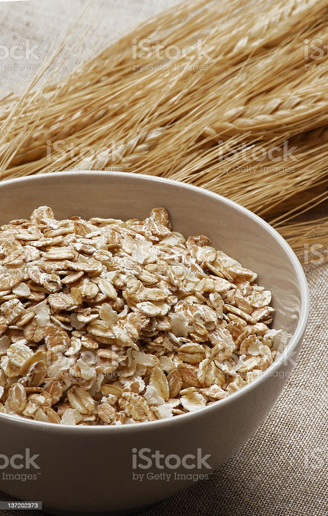 Fresh oats. stock photo