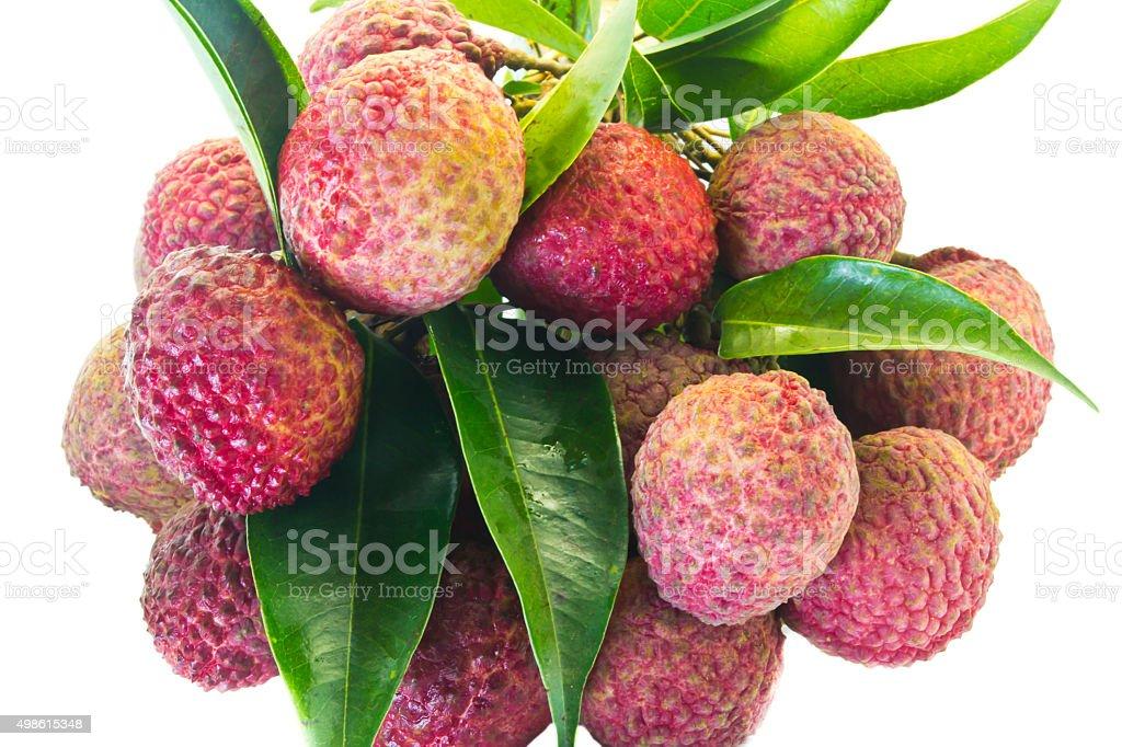 Fresh of litchi fruit stock photo