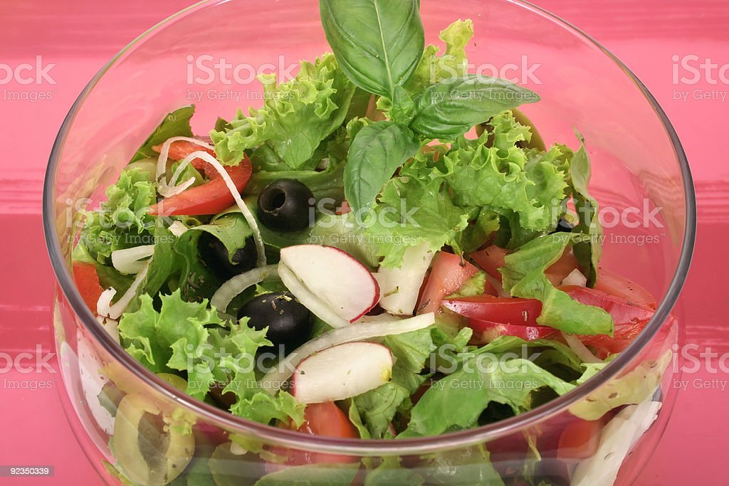 fresh olive salad royalty-free stock photo