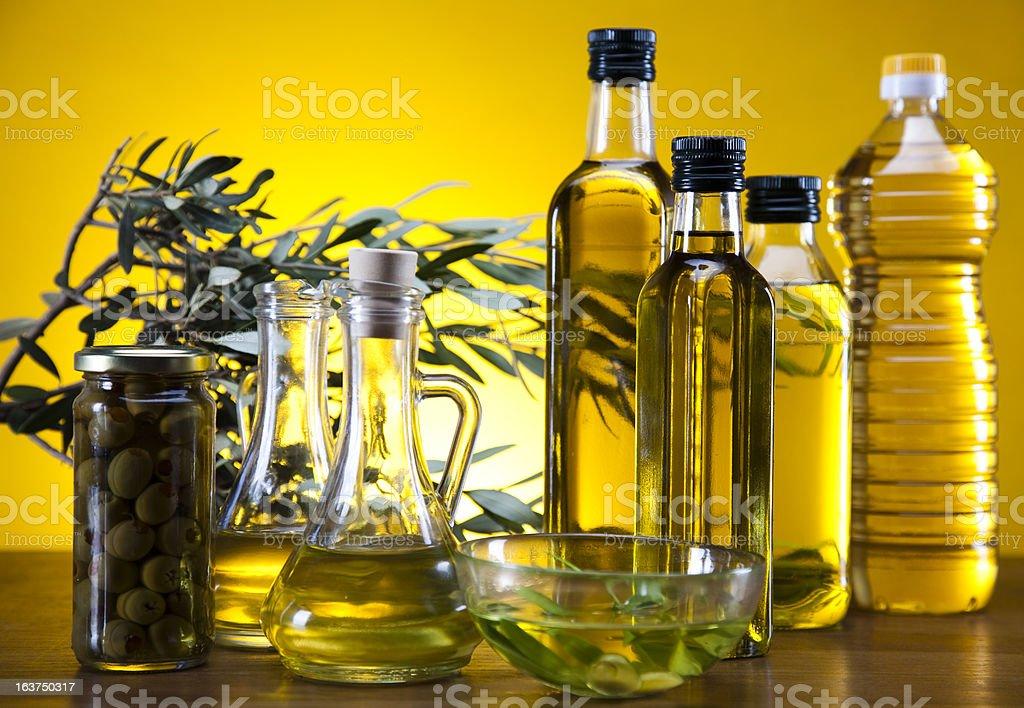 Fresh olives, olive oil royalty-free stock photo