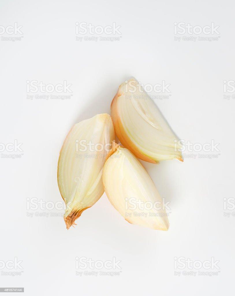Fresh onion bulbs stock photo