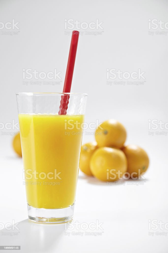 Fresh Orange And Juice royalty-free stock photo