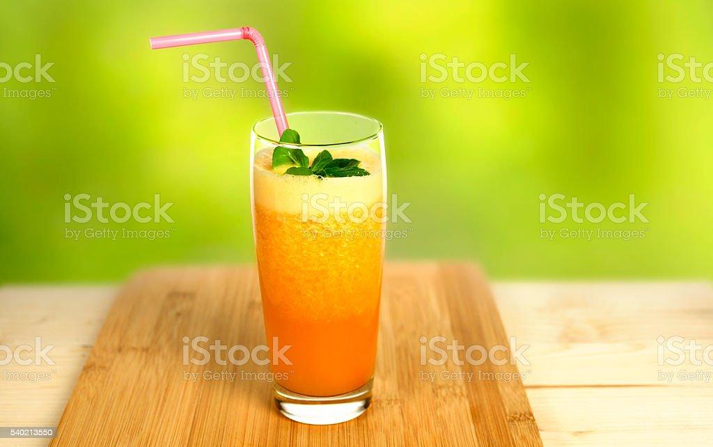 Fresh orange juice stock photo