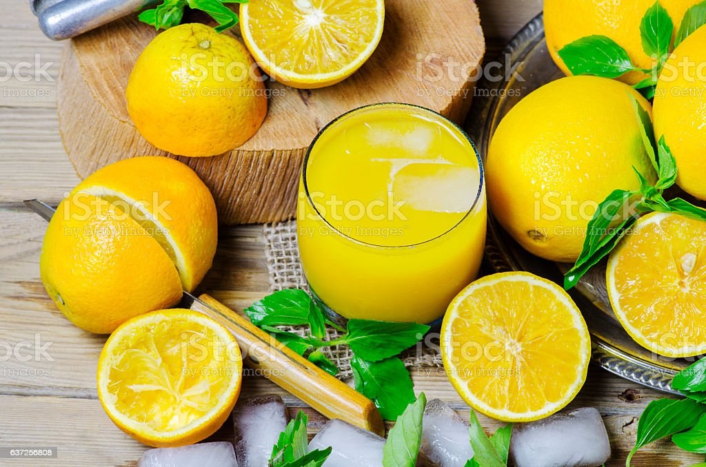 Fresh orange juice. stock photo