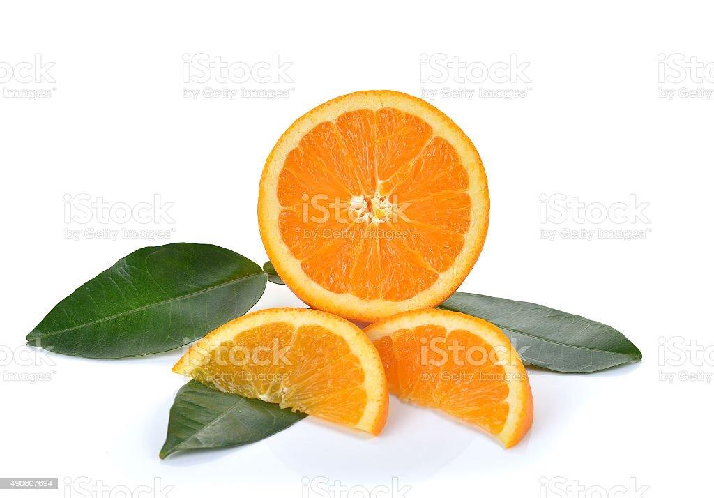 Świeże orange na białym tle zbiór zdjęć royalty-free