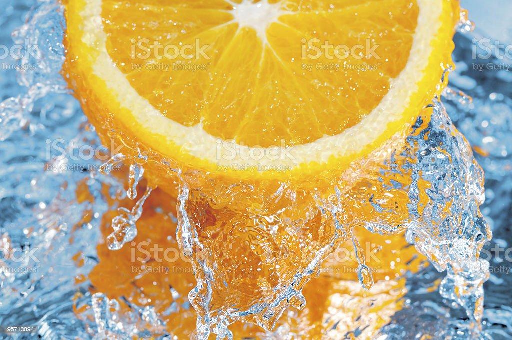 fresh orange royalty-free stock photo