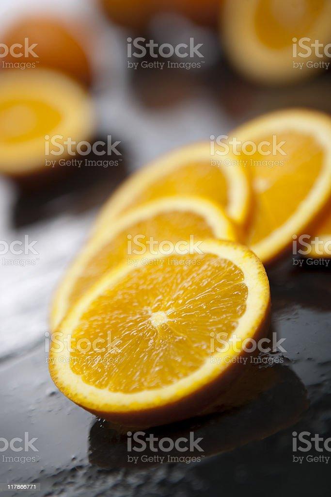 Fresh Orange Slices royalty-free stock photo