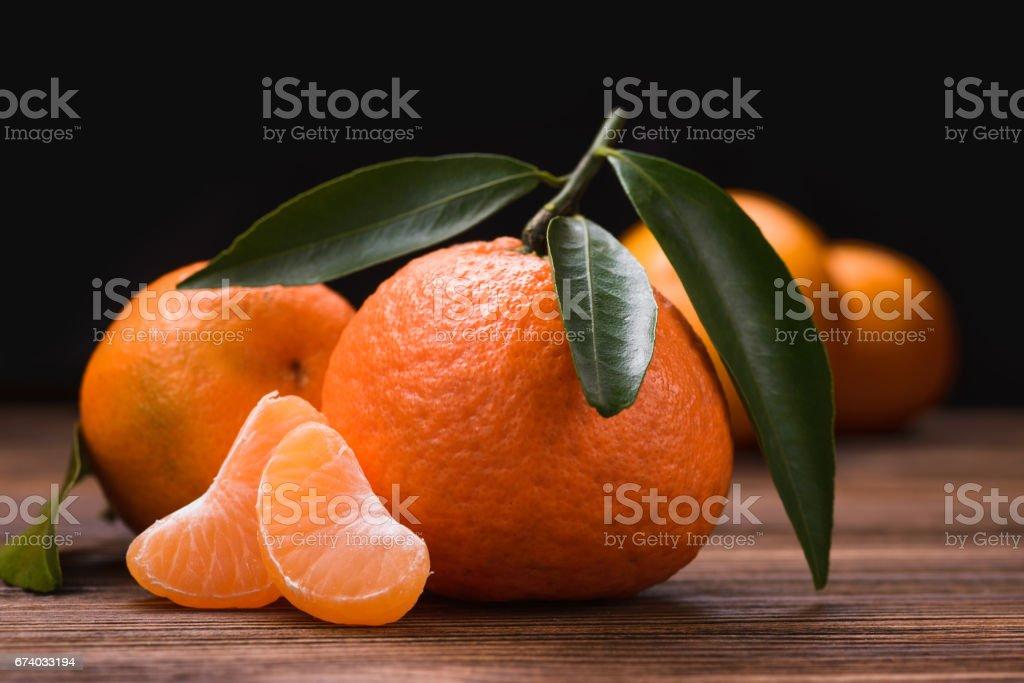 fresh orange tangerine stock photo