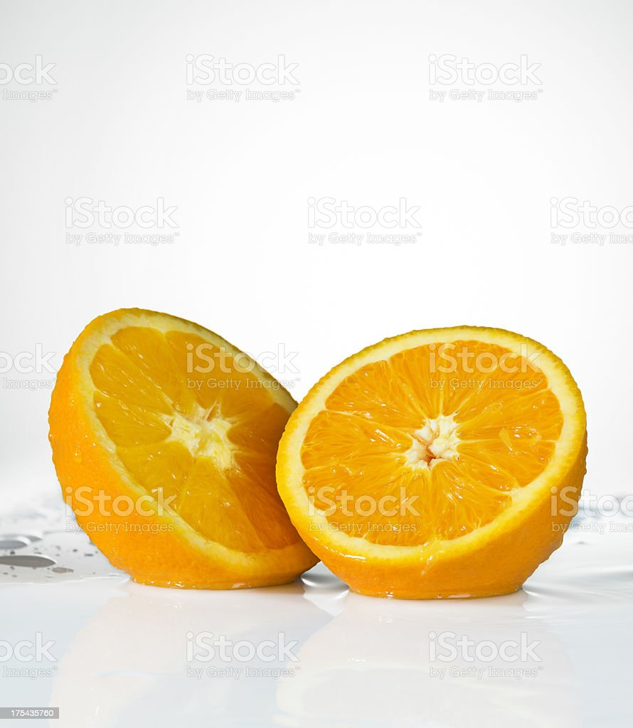 Fresh Oranges. Close-Up. stock photo