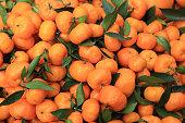 fresh oranges selling at market