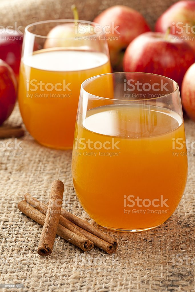 Fresh Organic Apple Cider royalty-free stock photo