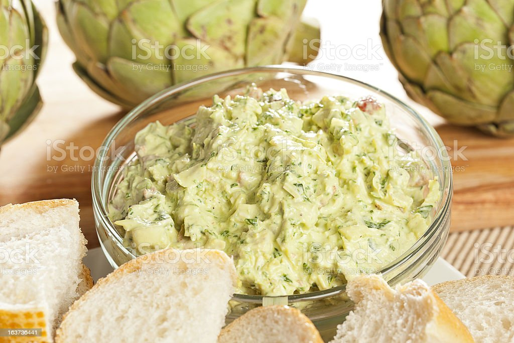 Fresh Organic Artichoke Dip stock photo