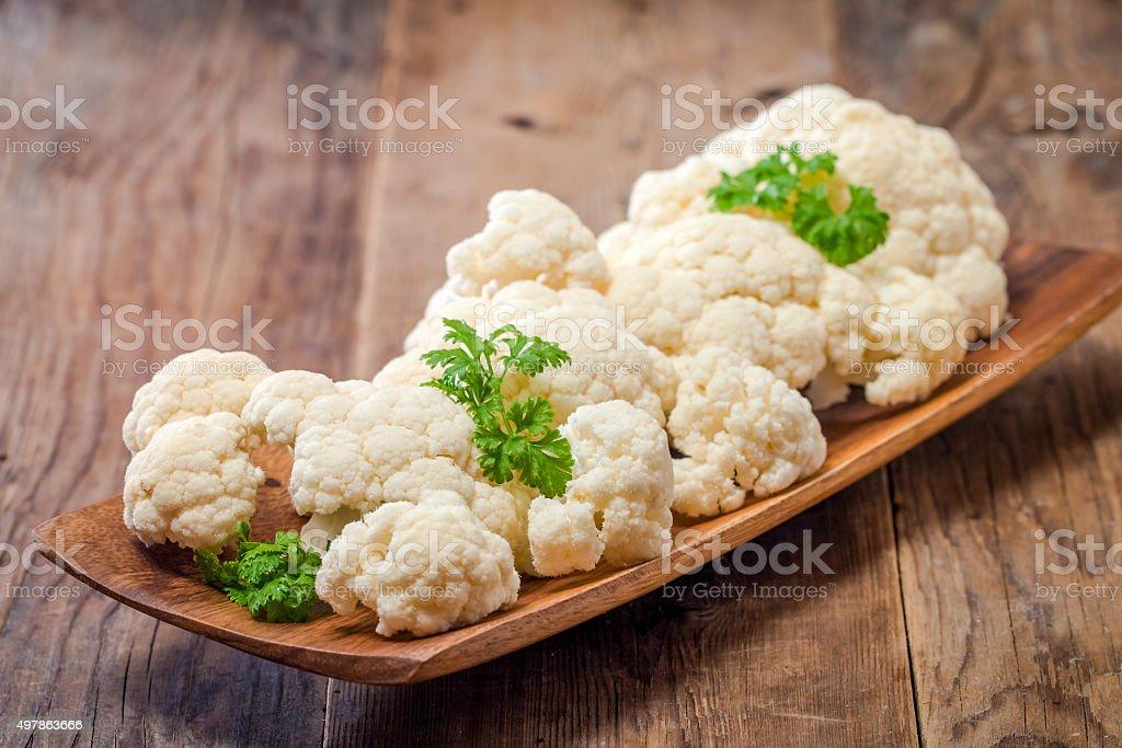Fresh organic cauliflower stock photo