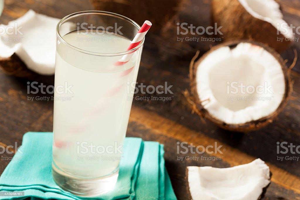 Fresh Organic Coconut Water stock photo