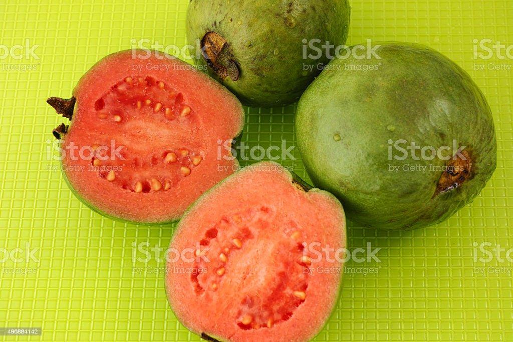 Fresh organic guava fruit stock photo