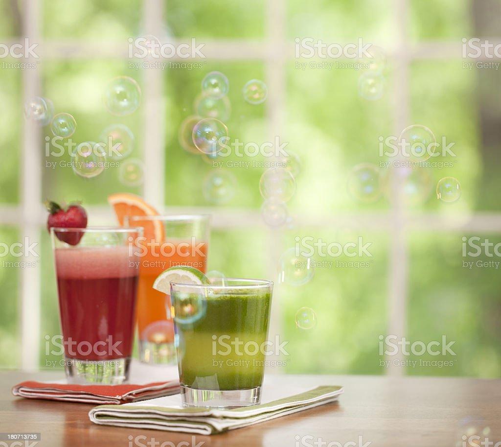 Fresh organic juice drink royalty-free stock photo