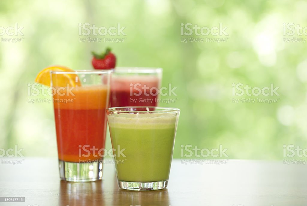 Fresh organic juice drink stock photo