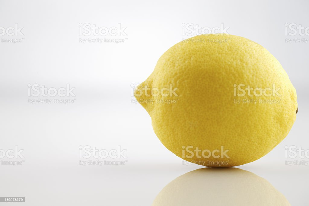 Fresh organic lemon royalty-free stock photo