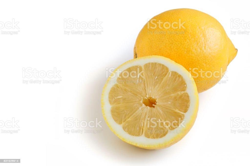 Fresh Organic Lemon stock photo
