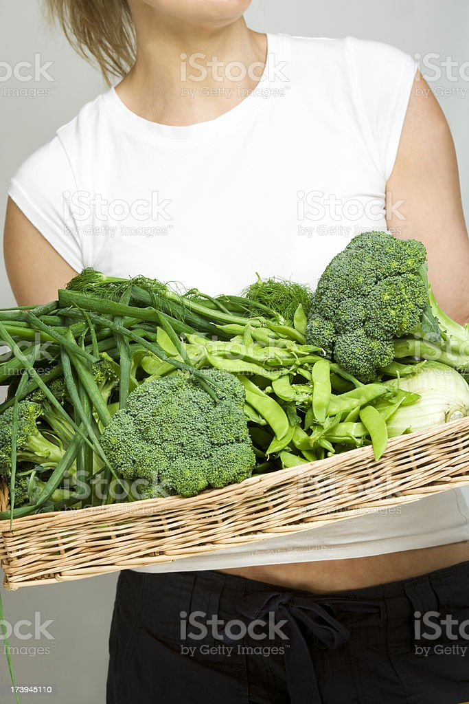 fresh organic market green vegetables royalty-free stock photo