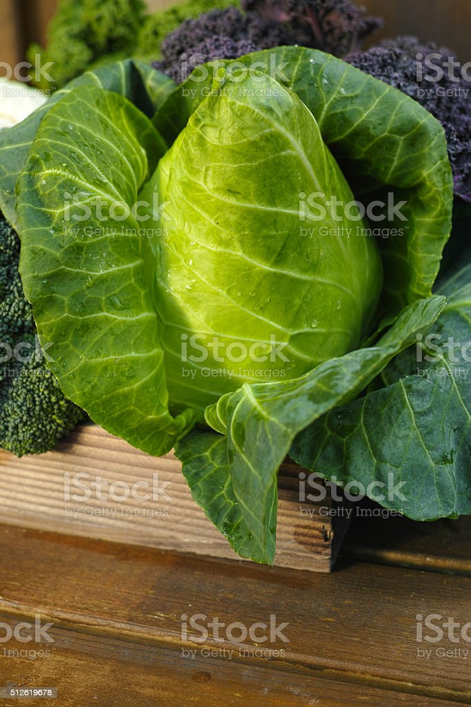 Fresh organic market vegetables on wooden background stock photo