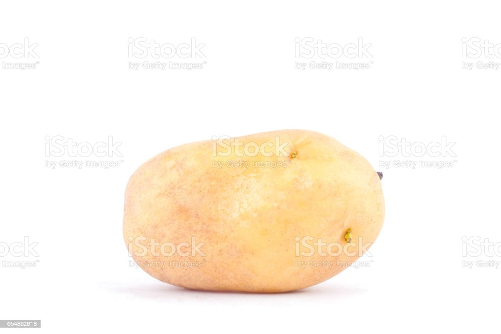 fresh organic potatoes on white background healthy potato Vegetable food isolated stock photo