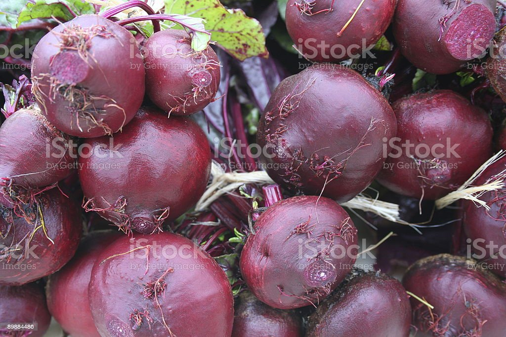 Fresh Organic Red Beets royalty-free stock photo