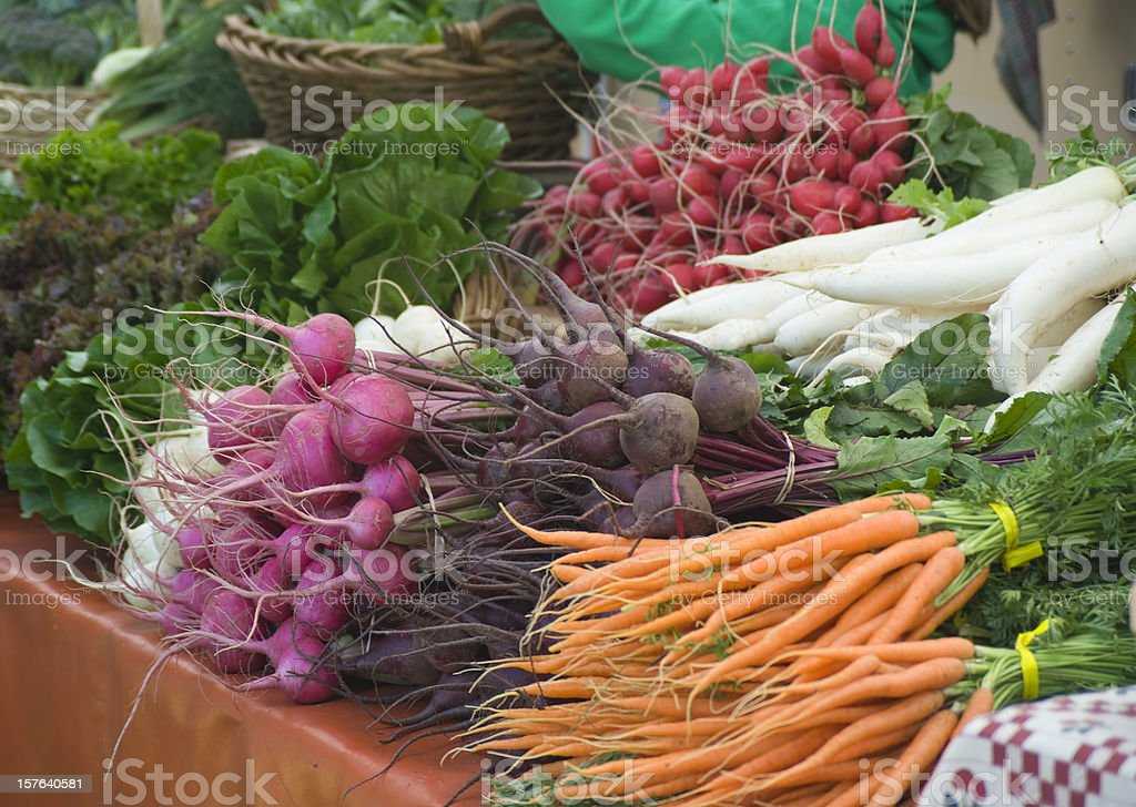 Fresh Organic Root Vegetables stock photo