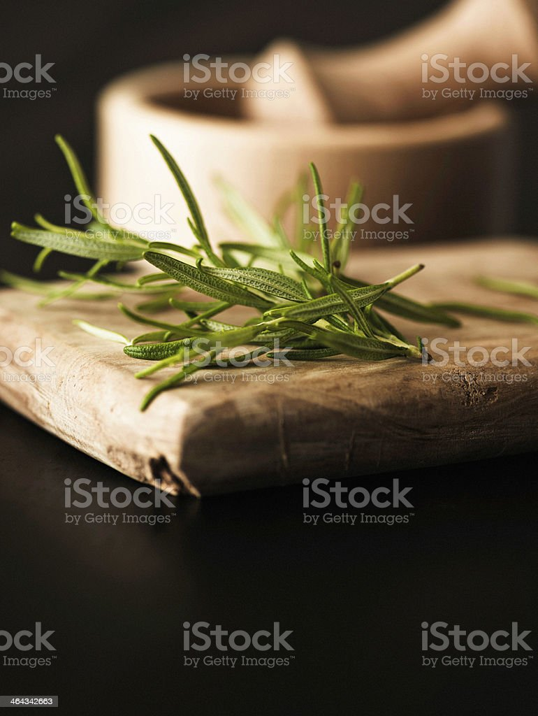 Fresh Organic Rosemary with Copy Space royalty-free stock photo
