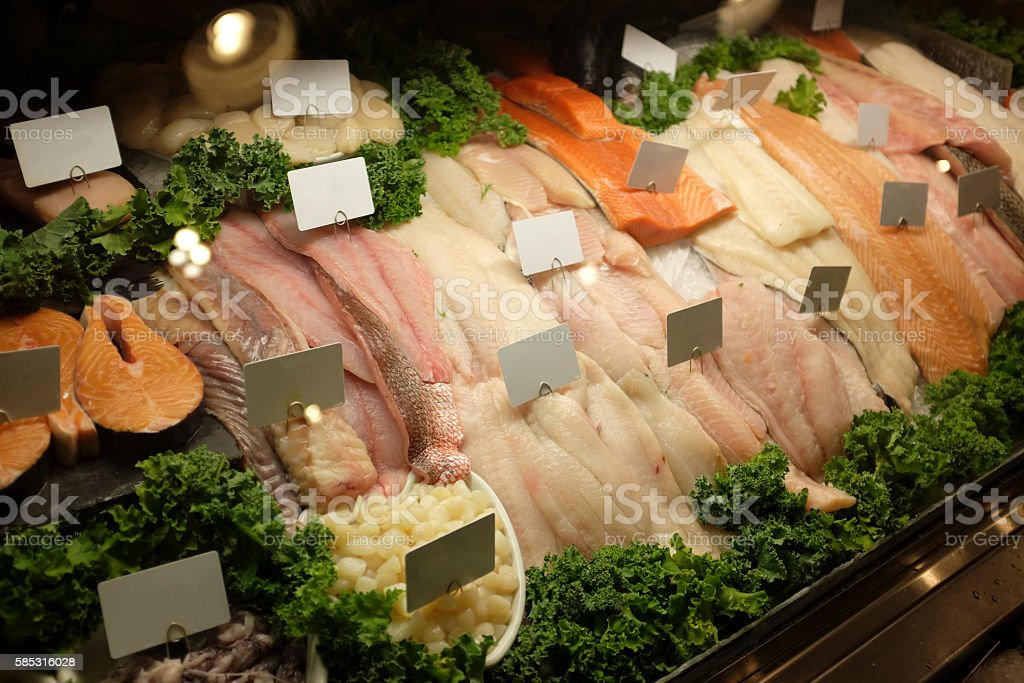 Fresh Organic Seafood stock photo