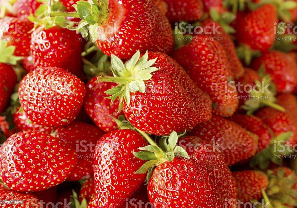 Fresh organic strawberry royalty-free stock photo
