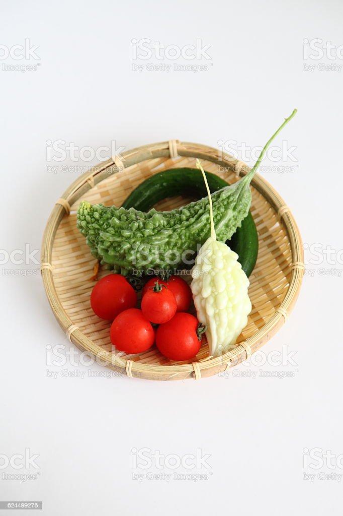 Fresh Organic Summer Vegetable in JAPAN stock photo