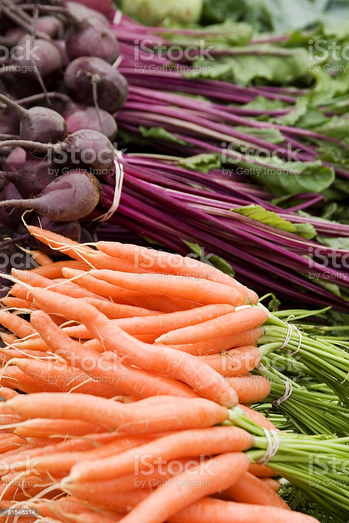 Fresh Organic Vegetables at Farmers Market royalty-free stock photo