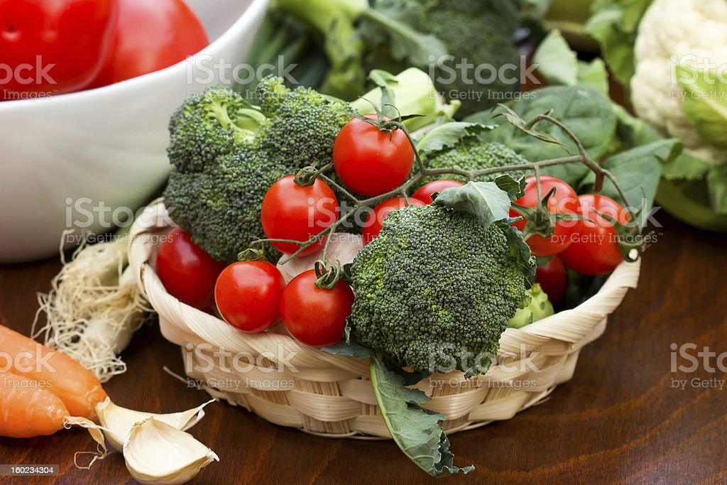 Fresh organic vegetables on the table royalty-free stock photo