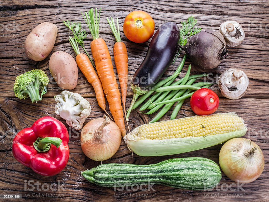 Fresh organic vegetables. stock photo
