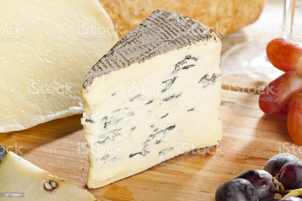 Fresh Organic White Brie Cheese royalty-free stock photo