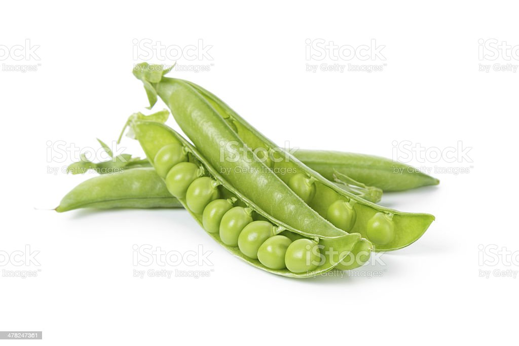fresh organic young peas stock photo