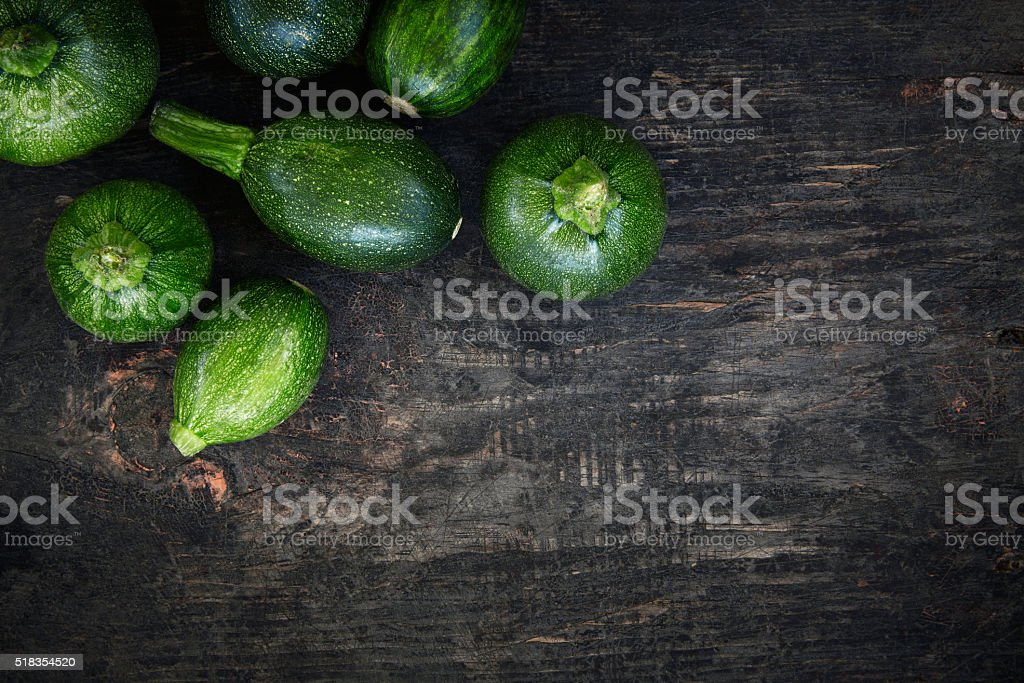 Fresh organic zucchinis stock photo