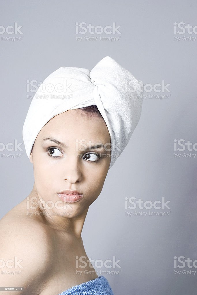 Fresh out of the shower royalty-free stock photo