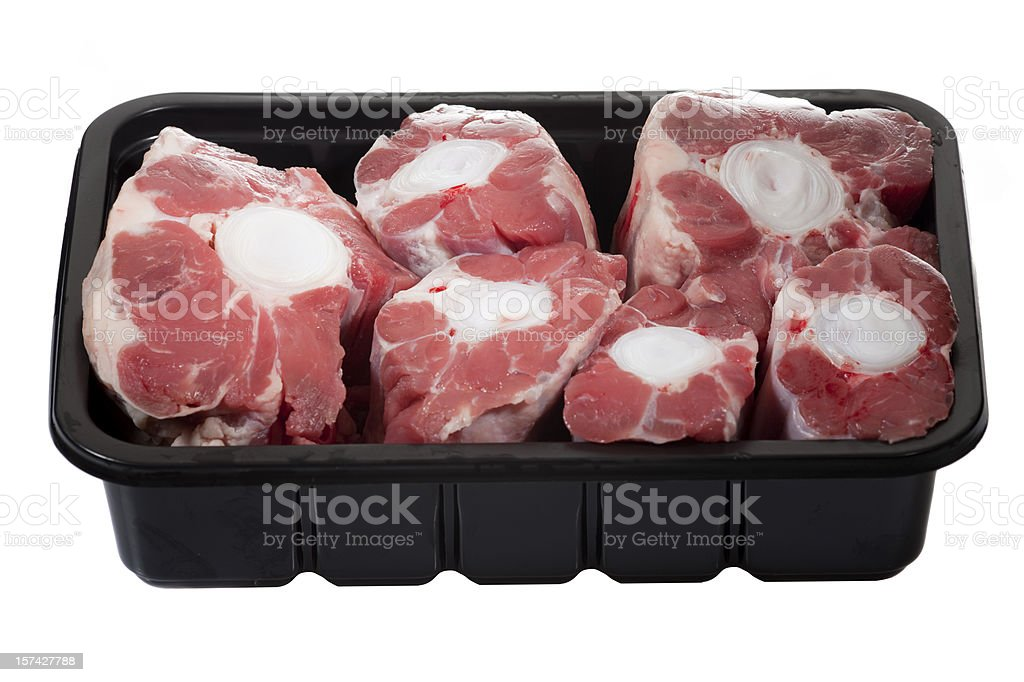 Fresh oxtail stock photo