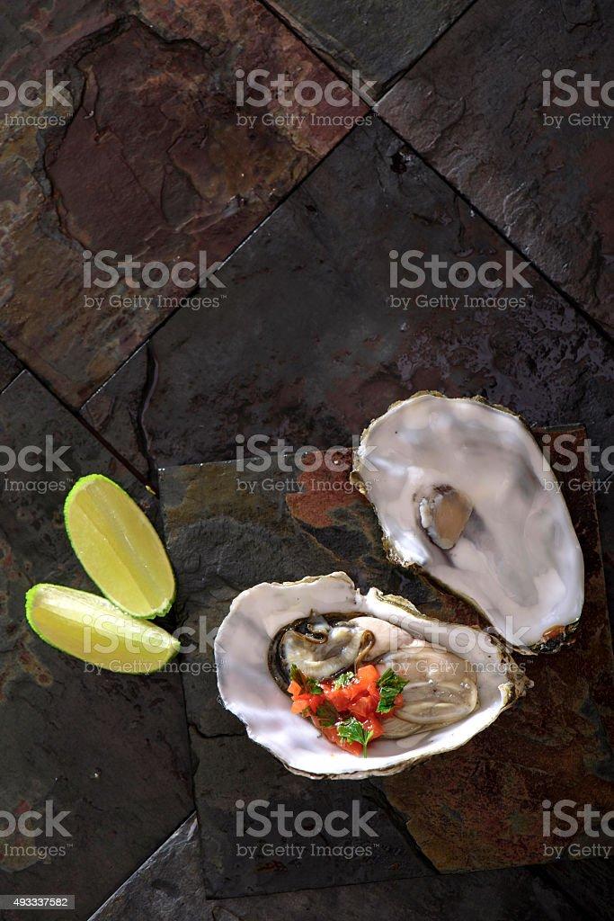 Fresh Oyster stock photo