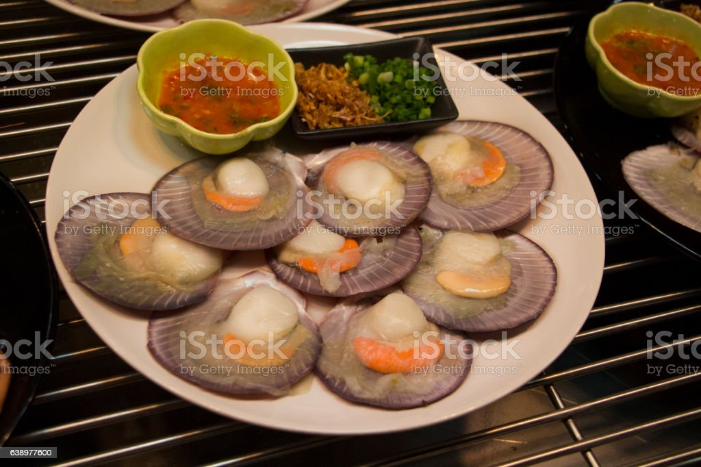 Fresh oyster plate stock photo