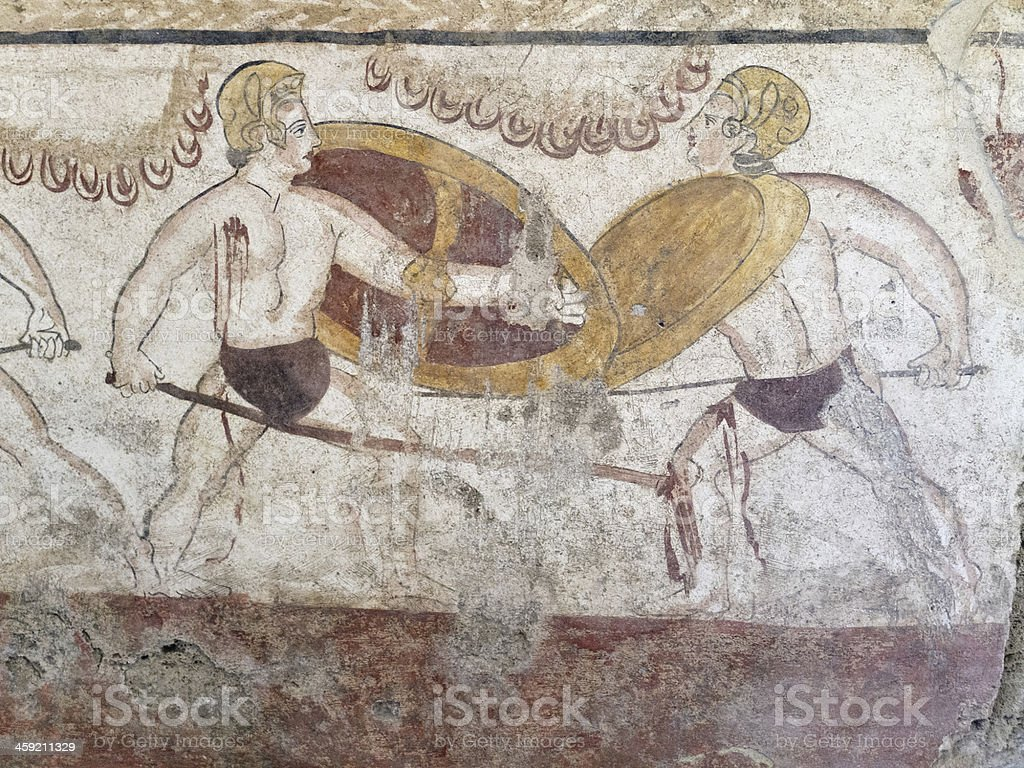 Fresco - Paestum stock photo