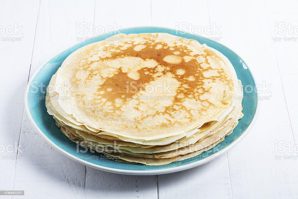fresh pancakes royalty-free stock photo