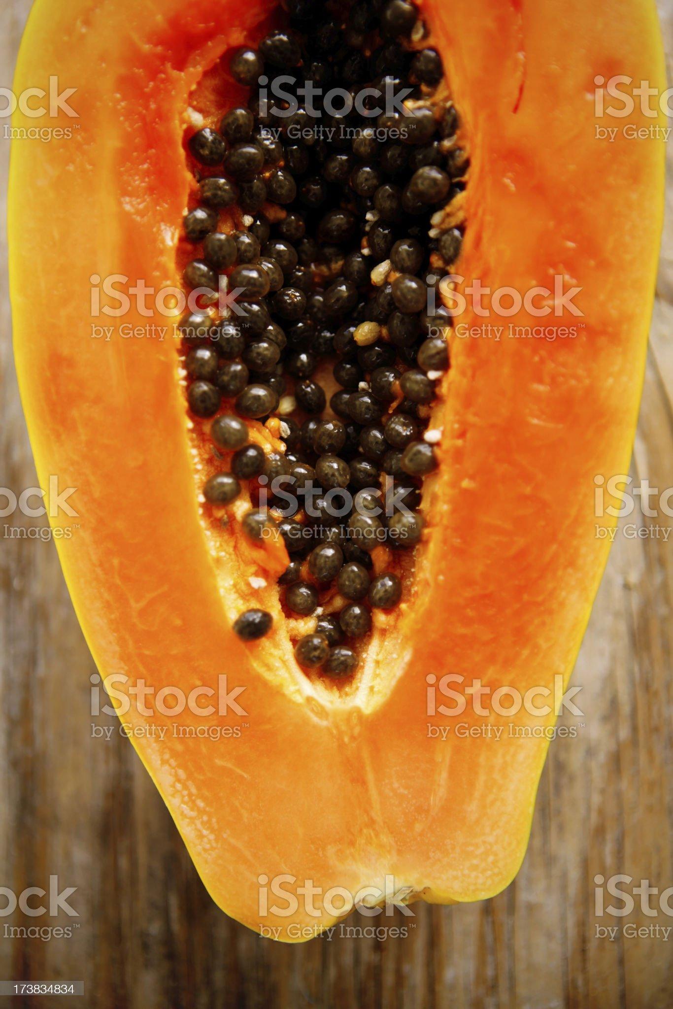 fresh papaya royalty-free stock photo