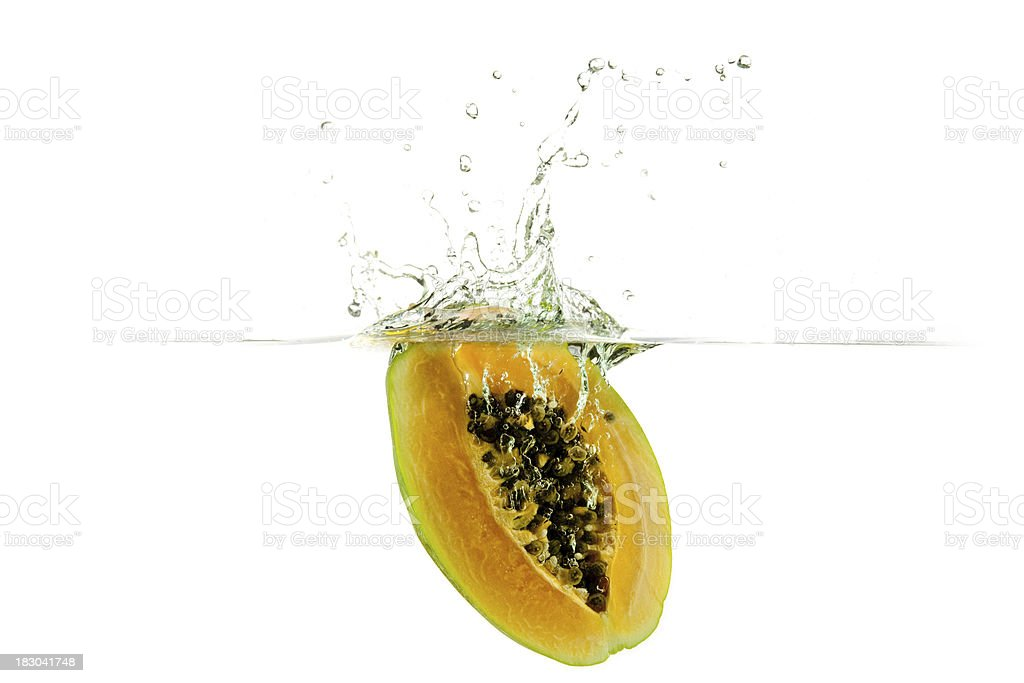 Fresh papaya royalty-free stock photo